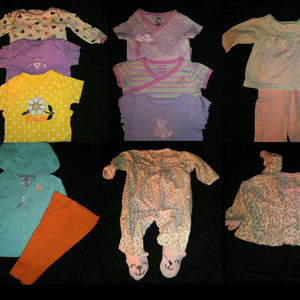 Box of Baby Girl Clothes 0 to 3 Months & Up